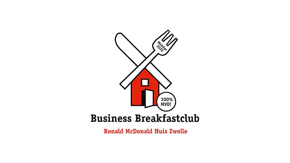 Logo business breakfastclub Ronald McDonald Huis Zwolle  Dommerholt